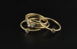 elajoyas, anillos de oro y diamante
