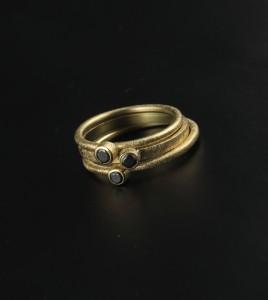 elajoyas, anillos bizantinos diamante negro